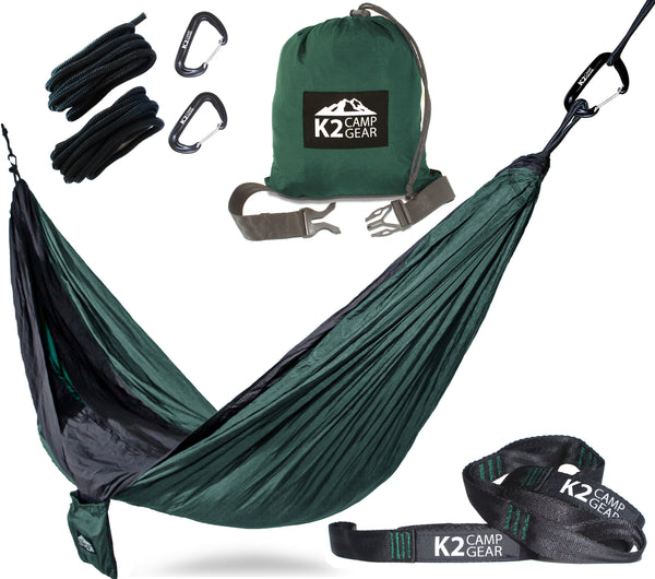 Original Double Camping Hammock with Triple Stitched Tree Saver Strap Set