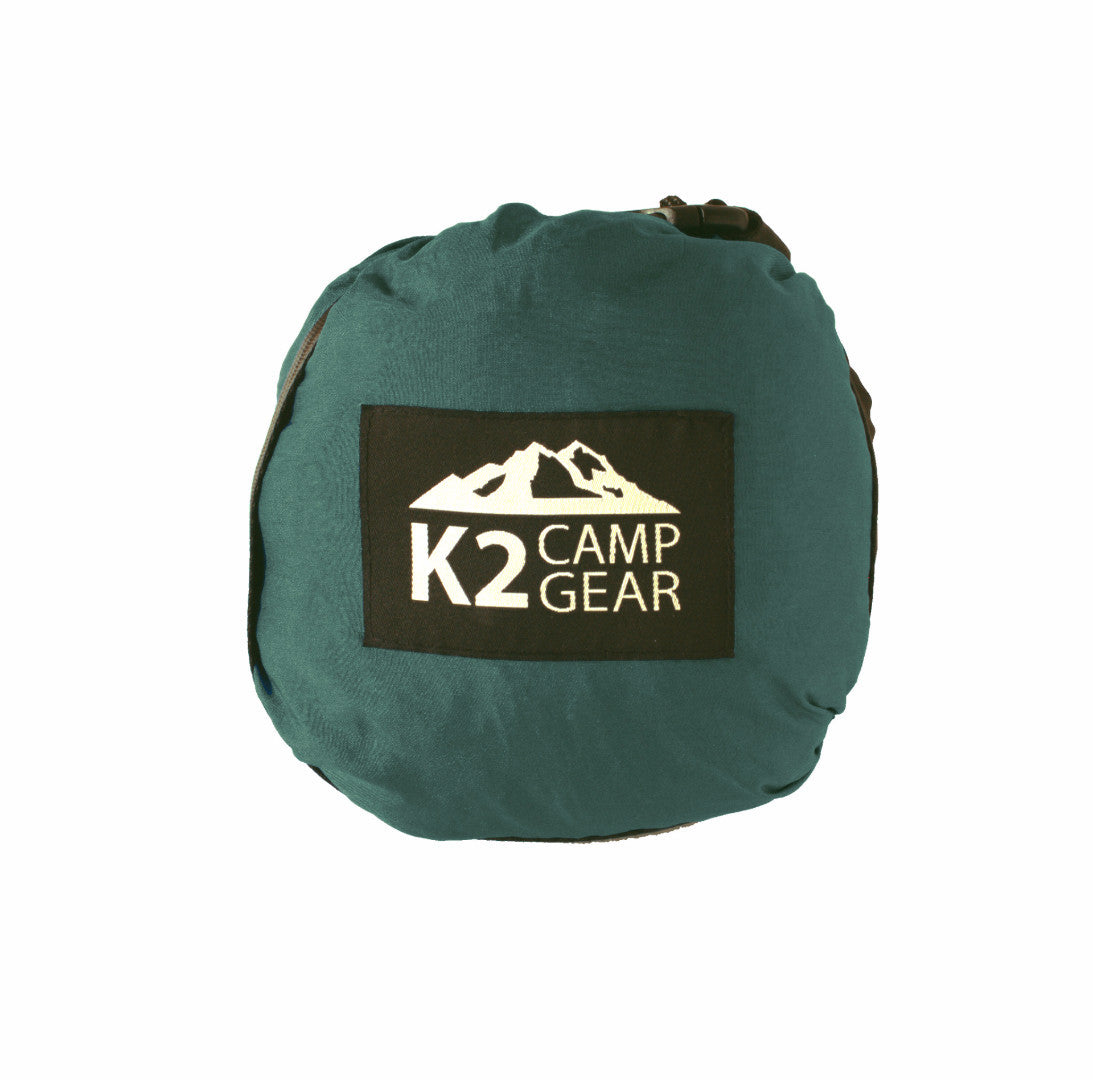 Original Double Camping Hammock (Forest Green/Black) - K2campgear - 3