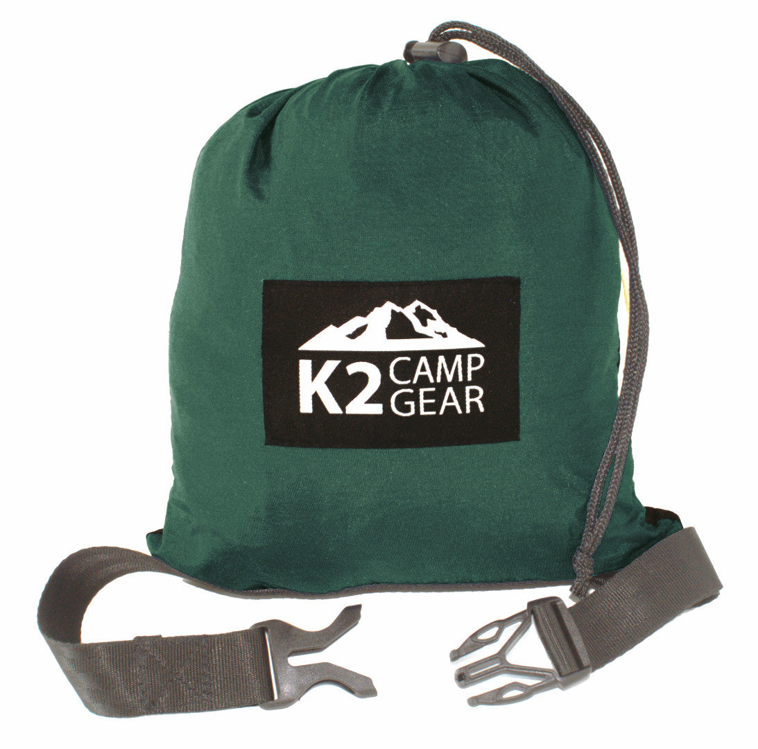 Original Double Camping Hammock (Forest Green/Black) - K2campgear - 2