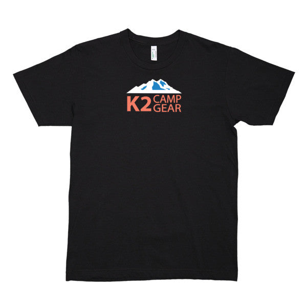 Men's short sleeve organic cotton t-shirt - K2campgear - 1