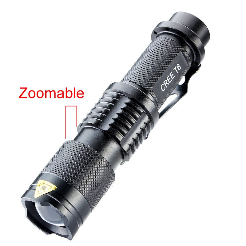 3000 Lumens High Power LED Torch CREE xm-l T6 Flashlight Zoomable Tactical Torch Flashlight 5 modes - K2campgear - 5