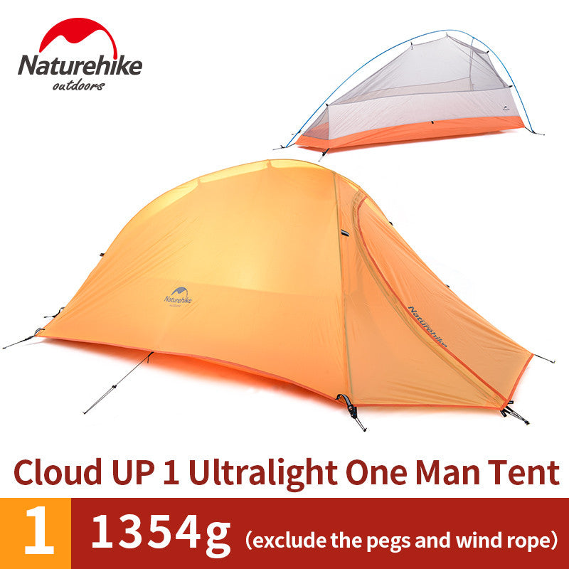 Naturehike 1 Person Tent 20D Silicone 210T Plaid FabricTent Double-layer Camping Tent Lightweight - K2campgear - 4