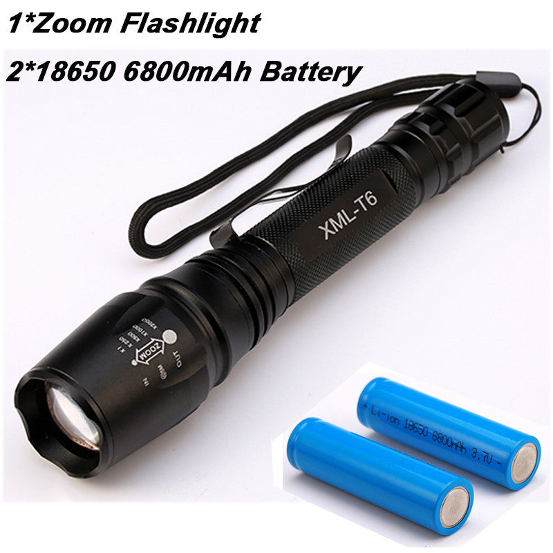8000 Lumen Flashlight CREE XM-L T6 LED Zoomable Focus Torch Light Tactical - K2campgear - 2