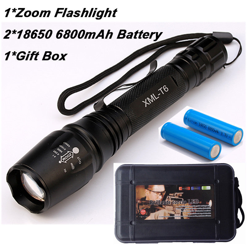8000 Lumen Flashlight CREE XM-L T6 LED Zoomable Focus Torch Light Tactical - K2campgear - 3