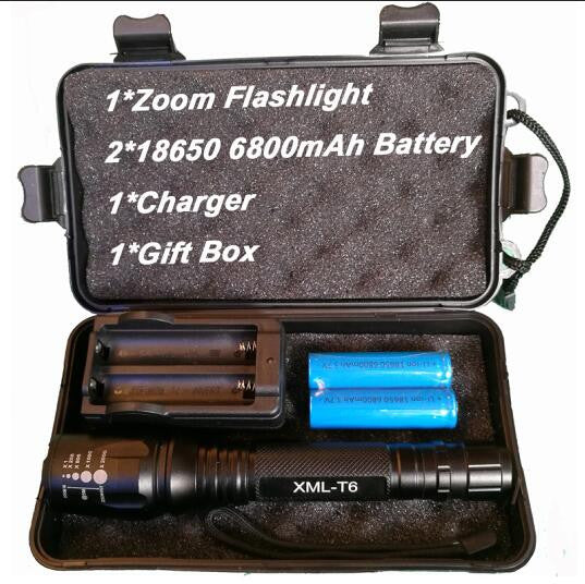 8000 Lumen Flashlight CREE XM-L T6 LED Zoomable Focus Torch Light Tactical - K2campgear - 5