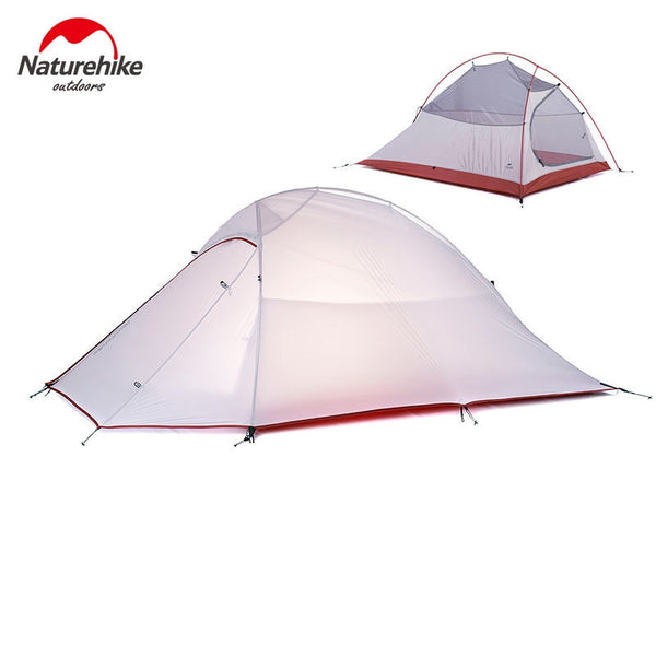 NatureHike 2 Person Tent Ultralight 210T Plaid Fabric Tent Double-layer Camping Tent - K2campgear - 1