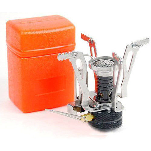 Ultralight Backpacking Canister Camp Stove with Piezo Ignition 3.9oz - K2campgear - 1