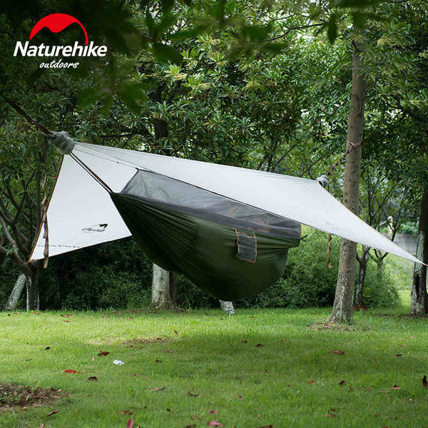 NatureHike Camping Tent Mosquito net 1 person waterproof ultralight hammock with tarp