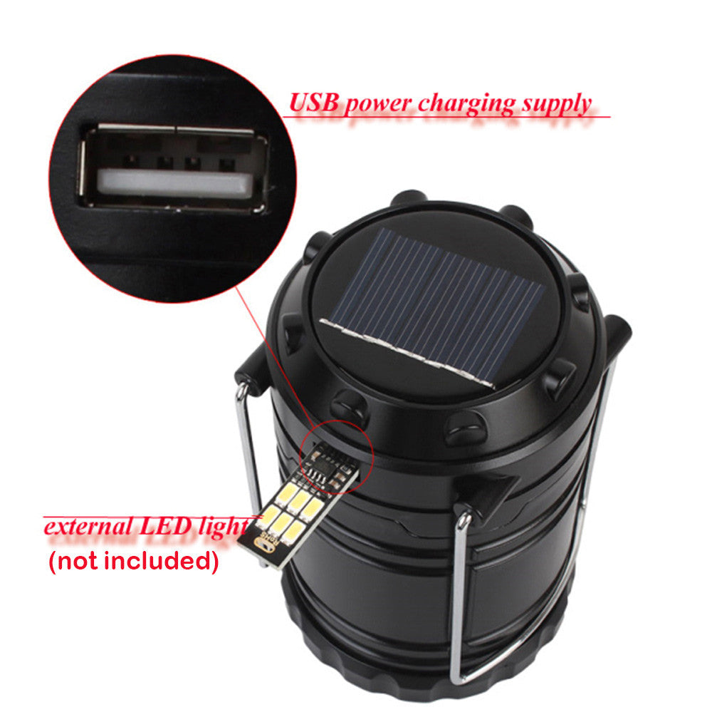 6 LED Hand Lamp Portable Led Light Solar Collapsible Rechargeable