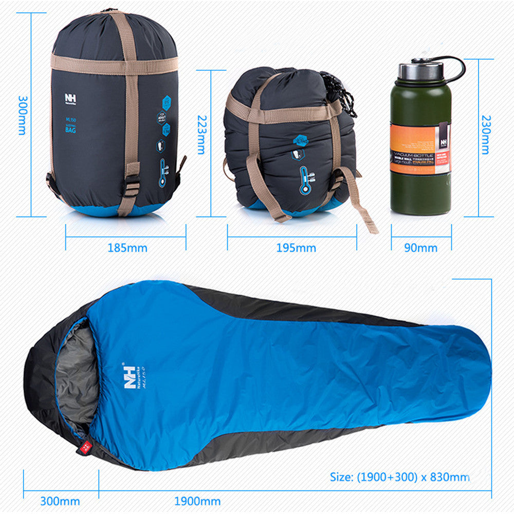 Professional Mummy Sleeping Bag Walking Hiking Warm Lightweight Compact 3-4 Season