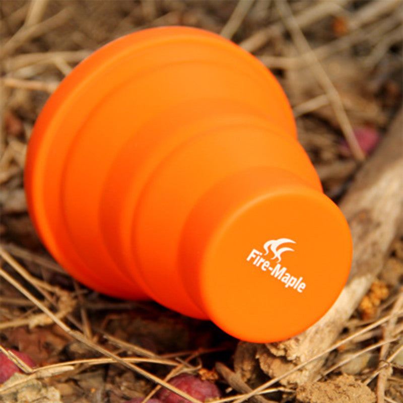 Camping Silicon Folding Mug Fire Maple 200ml 44g Free Shipping
