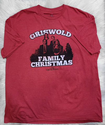 GRISWOLD FAMILY CHRISTMAS RED HEATHER TEE