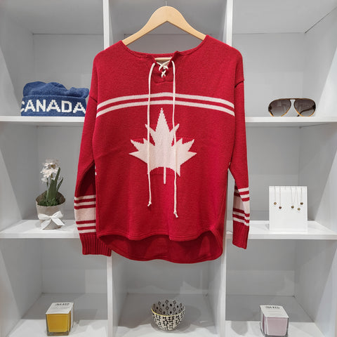 HOCKEY SWEATER RED MADE IN TORONTO