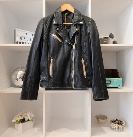 SOFIA BLACK ETHICAL LEATHER JACKET