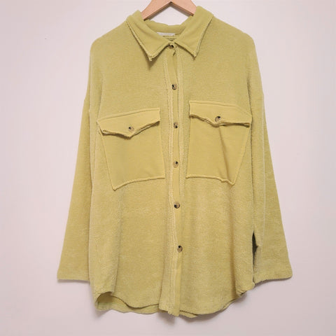 CHARTREUSE TERRY TOWEL SHACKET