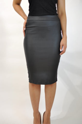 WAXED HIGH SKIRT MADE IN CANADA