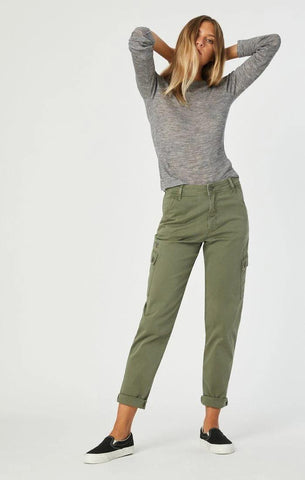 DENISE KHAKI TWILL CASUAL FIT MAVI PANT