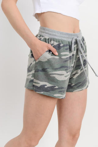 GREY CAMO MATCHING SHORTS