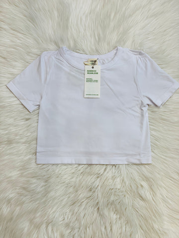 BAMBOO T CROP WHITE