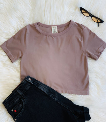 BAMBOO CROP T TAUPE (4509451452477)