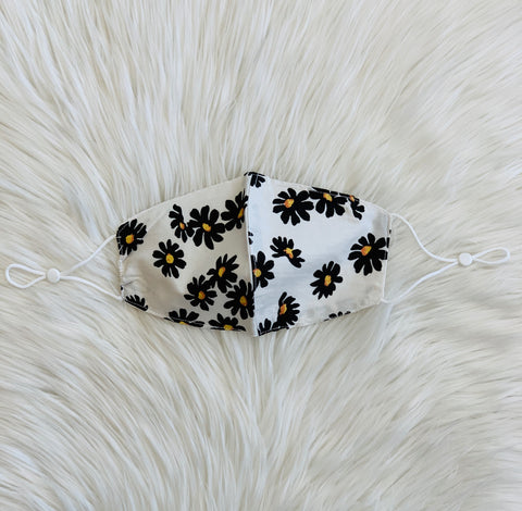 WHITE DAISY COTTON MASK (4510929485885)