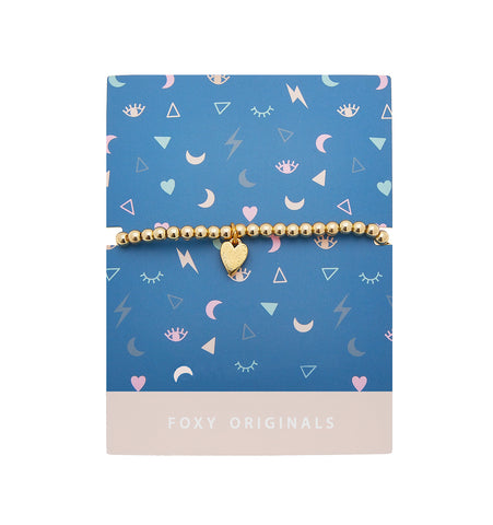 MINI MOMENTS HEART BRACELET GOLD