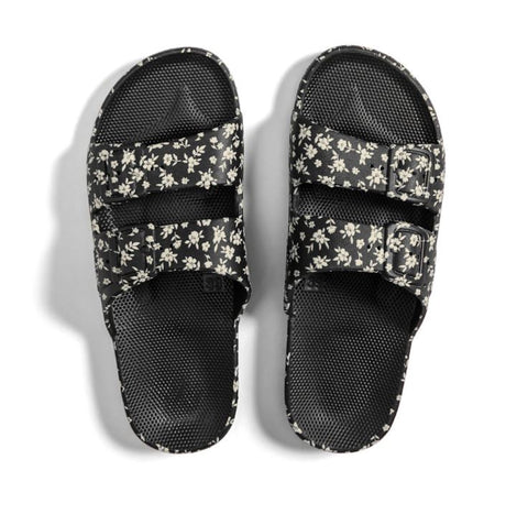 MOSES SLIDES LILY ROSE BLACK