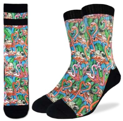 PUGS & FLAMINGOS SOCKS