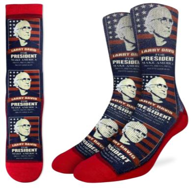 LARRY DAVID FOR PRESIDENT SOCKS