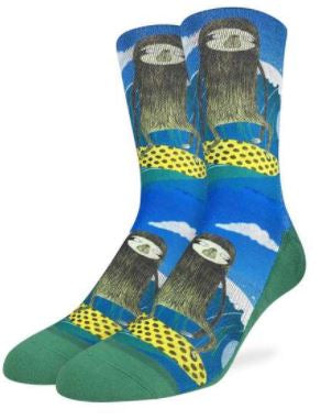 MENS SURFING SLOTHS SOCKS