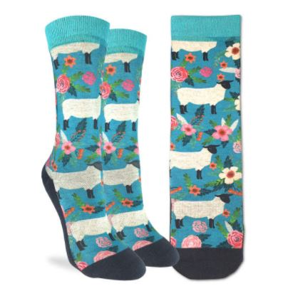 FLORAL SHEEP SOCKS