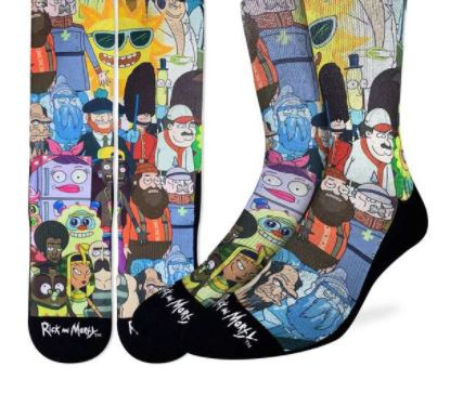 RICK AND MORTY CHARACTER SOCKS