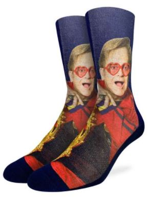 MENS ELTON JOHN ON CHAIR SOCKS
