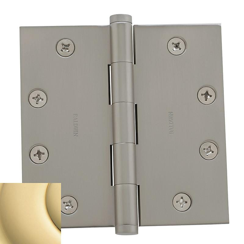 "4-1/2"" x 4-1/2"" Baldwin Architectural Hinges - Multiple Finishes Available - Door Hinges Polished Brass - 1"