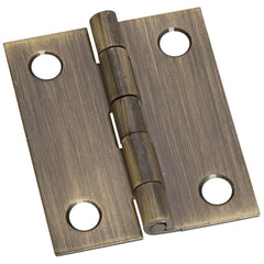 "1-1/2"" x 1-1/4"" Small Broad Hinges - Multiple Finishes Available - 2 Pack"