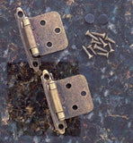 Self Closing Cabinet Hinges - Flush Mounted - Multiple Finishes Available - Sold in Pairs - Self Closing Cabinet Hinges Antique English Finish - 4