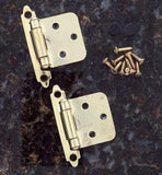 Self Closing Cabinet Hinges - Flush Mounted - Multiple Finishes Available - Sold in Pairs - Self Closing Cabinet Hinges Polish Brass Finish - 5