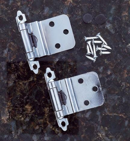 Self Closing Cabinet Hinges - 3/8 Inset - Multiple Finishes Available - Sold in Pairs