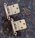 Self Closing Cabinet Hinges - 3/8 Inset - Multiple Finishes Available - Sold in Pairs - Self Closing Cabinet Hinges Antique Brass Finish - 4
