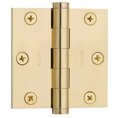 "3"" x 3"" Baldwin Architectural Hinges - Multiple Finishes Available - Door Hinges Polished Brass - 1"