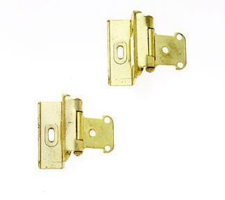 Self Closing Cabinet Hinges - Full Wrapped- Sold in Pairs - Multiple Finishes - Self Closing Cabinet Hinges Polish Brass - 1