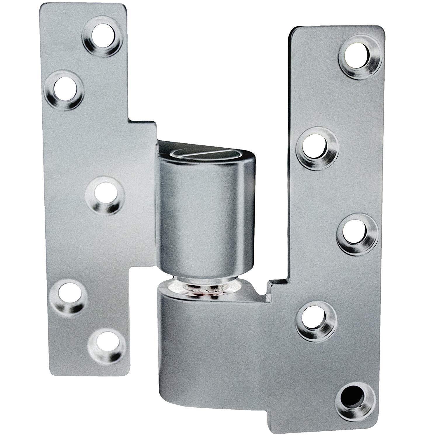 "Intermediate Pivot Door Hinges - Offset for Metal Frame Doors - 1/8"" Recessed or Face Frame Applications - 1 3/4"" Thick Doors"