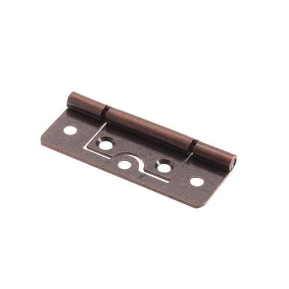 "125° Bifold Door Stop Hinges - Non Mortise - 2 1/2"" Inches x 1"" Inch - High Quality Steel - Statuary Bronze Finish - Sold Individually"