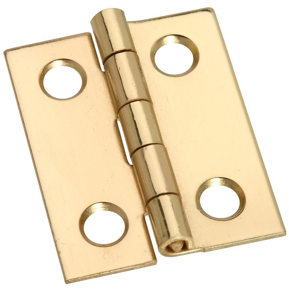 "1"" x 13/16"" Small Medium Hinges - Solid Brass - 4 Pack"
