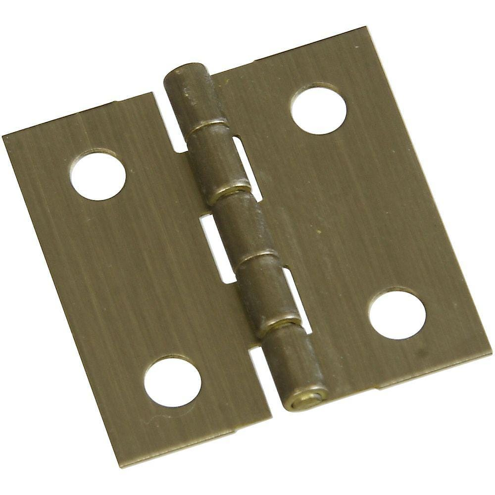 "1"" x 1"" Small Broad Hinges - Antique Brass - 2 Pack"