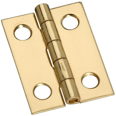 "1"" x 3/4"" Small Narrow Hinges - Solid Brass - 4 Pack"