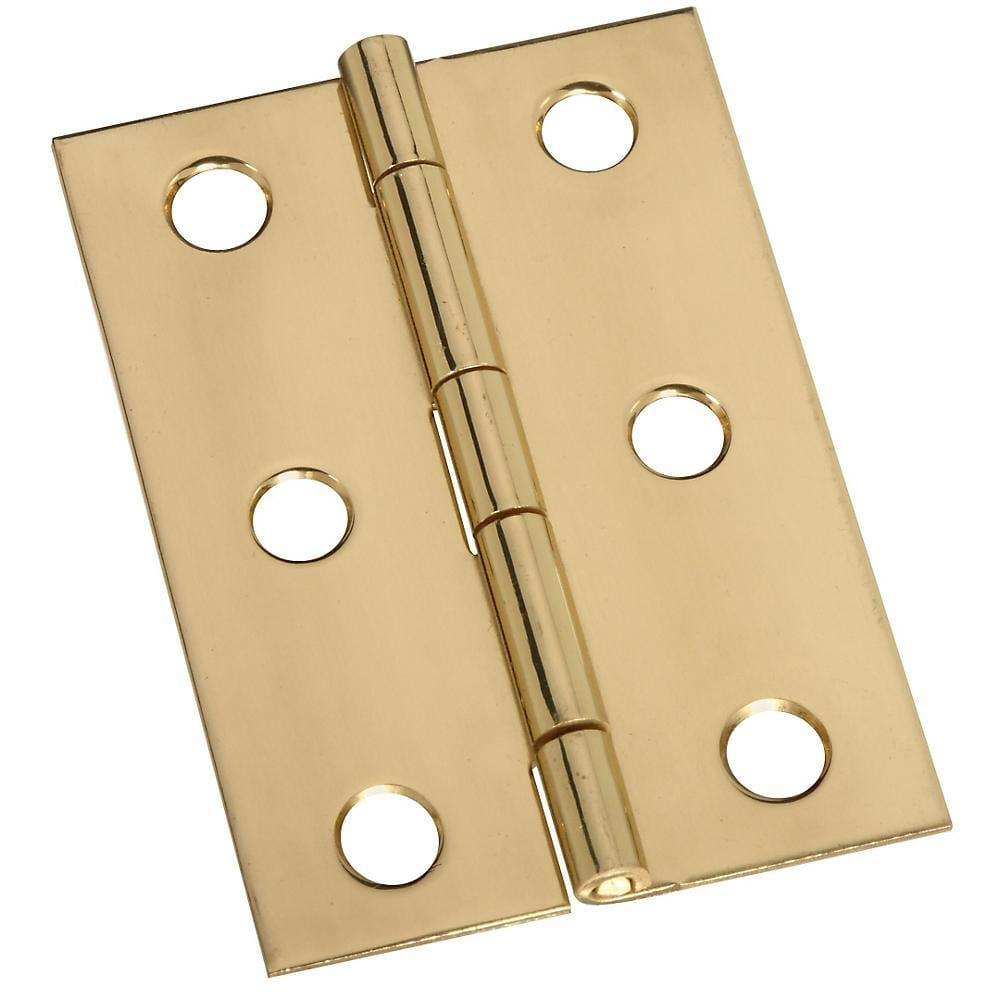 Removable Pin Broad Hinge 2-1//2 Inch Satin Brass 2 Pack