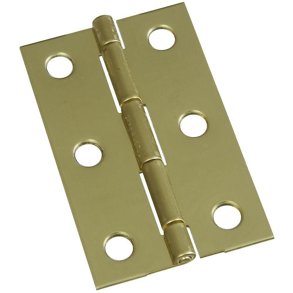 "2-1/2"" x 1-9/16"" Small Medium Hinges - Solid Brass - 2 Pack"