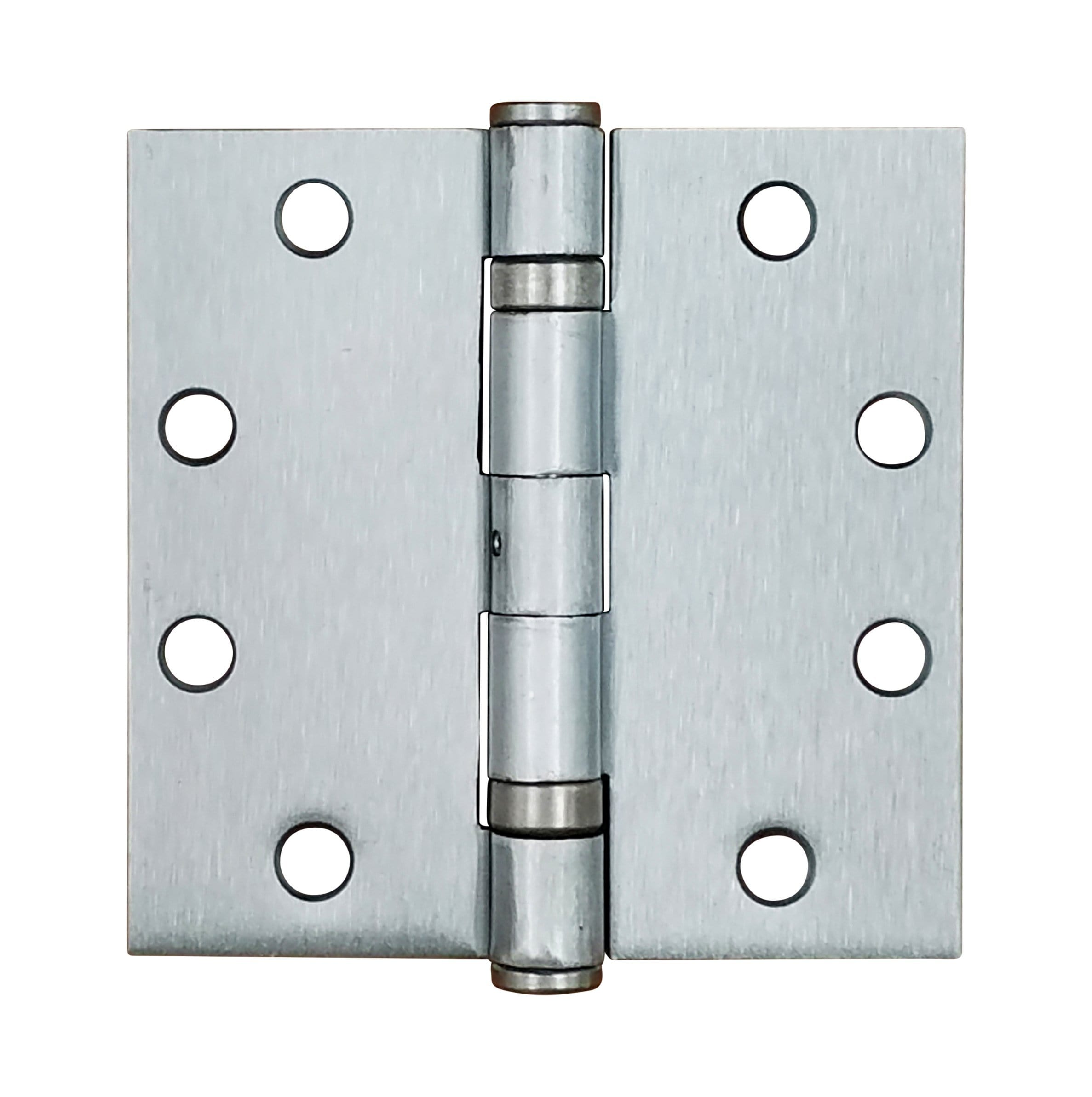 "4 1/2"" x 4 1/2"" with square corners Satin Nickel Commercial Ball Bearing Hinge- Sold in Pairs"