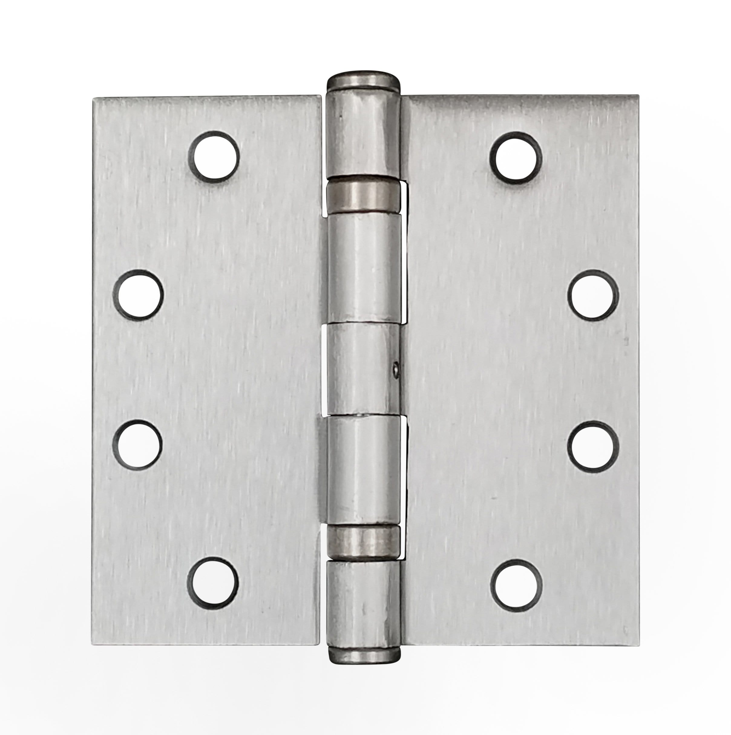 "4 1/2"" x 4 1/2"" with square corners Satin Chrome Commercial Ball Bearing Hinge - Sold in Pairs"